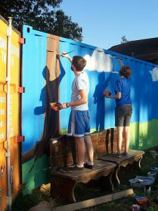 Orange Mound MCA students paint mural