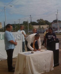 Issues First Mayoral Candidate Pledge Signing(1)